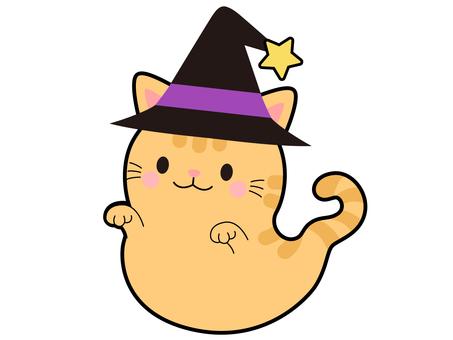 【Halloween】 ghost tea tiger cat