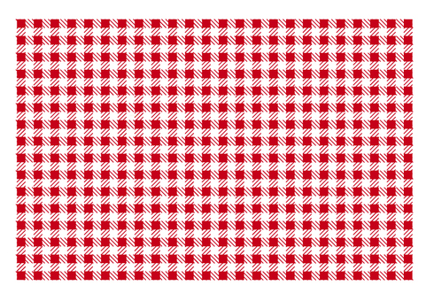 Gingham check (red)