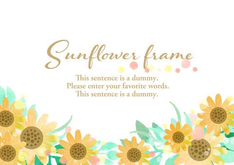 Season material 013 Sunflower frame