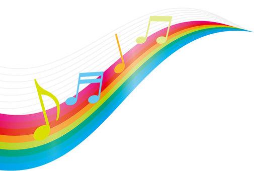 Rainbow and music