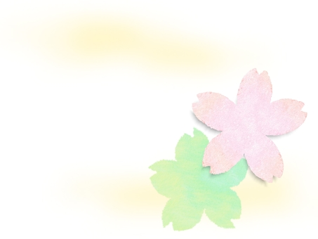 Sakura like Japanese paper