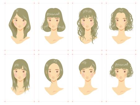 女性发型各种灰