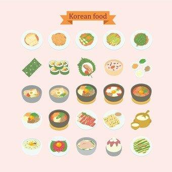 Illustration of Korean food