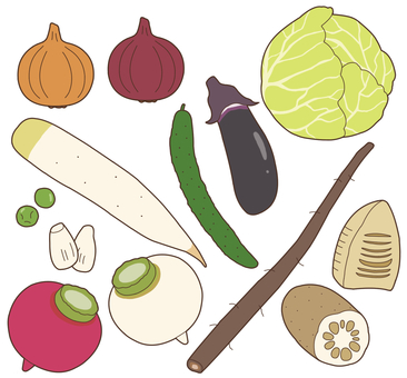 Vegetables (pale vegetables) 1/3