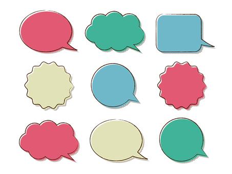 Vintage style speech bubble
