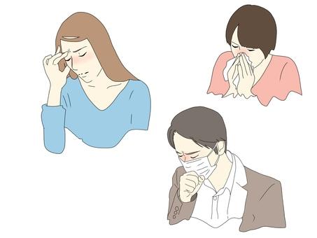 Cold symptoms (headache, cough, runny nose)