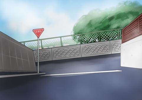 Stop (T-junction) Illustration 001