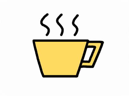 杯蒸汽黃色