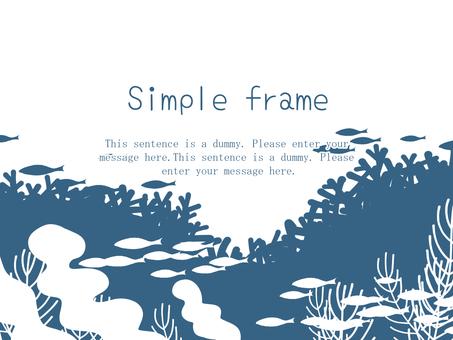 Deep sea frame 01 / blue a