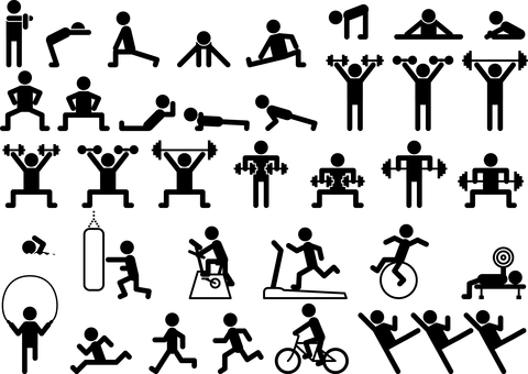 Exercise gym fitness set