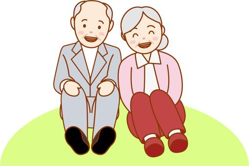 The elderly couple