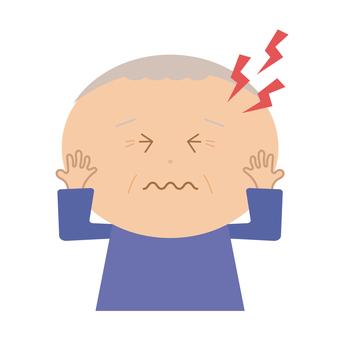 Grandfather hurts his head
