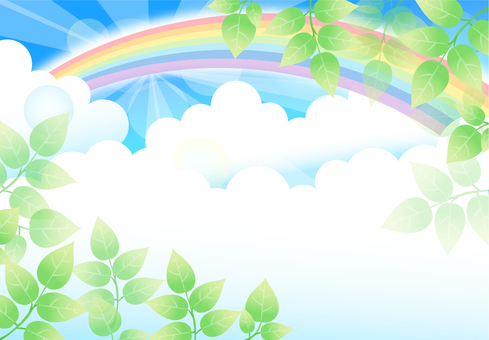 背景 緑 虹