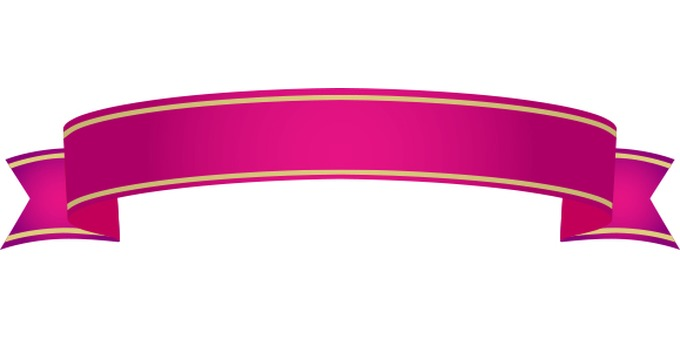 Pink decorative ribbon frame
