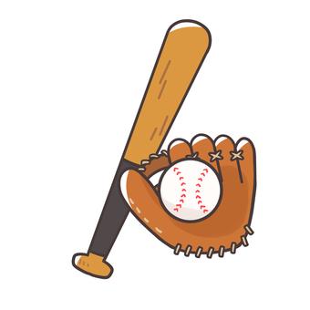 Bat and glove