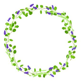 Lavender frame round