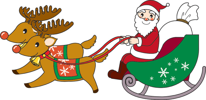 크리스마스 산타와 순록