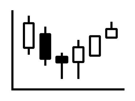 Candlestick on stock chart