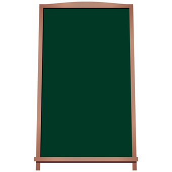 Blackboard sign menu board front