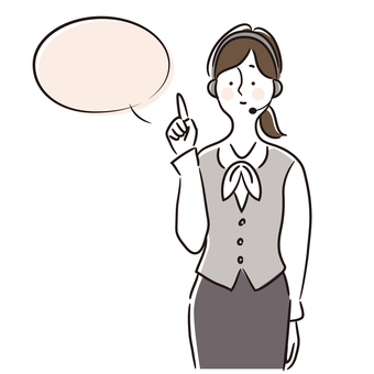 Illustration of a call center woman (uniform 5)