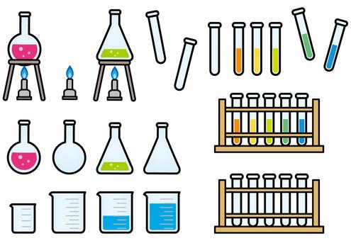 Test tube · Flask · Erlenmeyer flask · Beaker