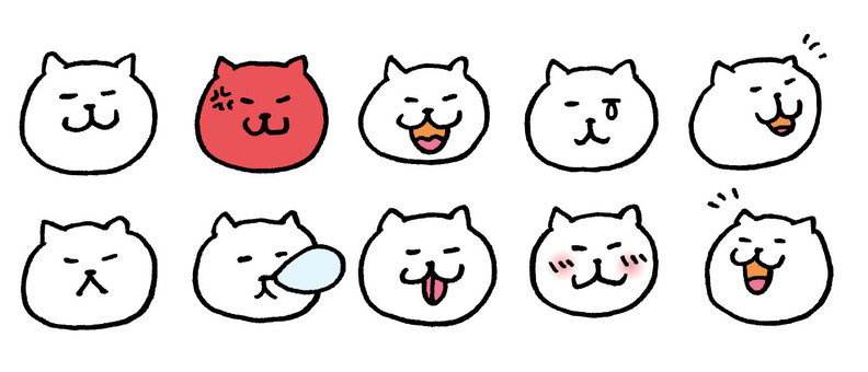 Cat face various