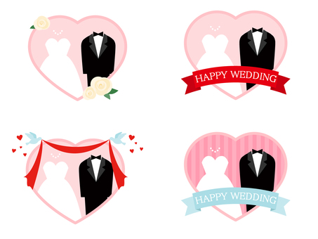 Various wedding icons