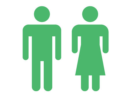 Pictogram human stand and sex