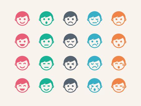 Face icon (boy / color)