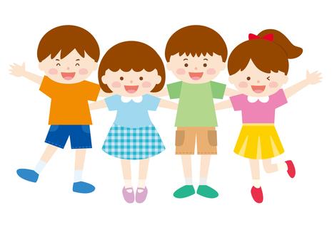 Children's gathering 03 _ Making shoulder (summer)