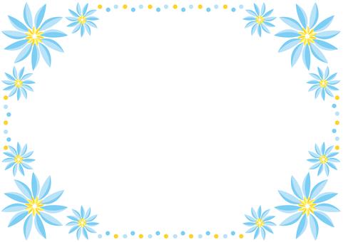 Frame - Tropical Flower Blue