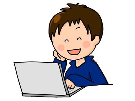 PC PC work boy