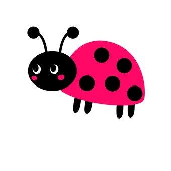 Pink ladybird nervous