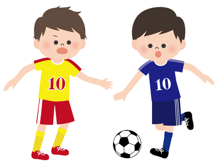 Character material <boy playing soccer>