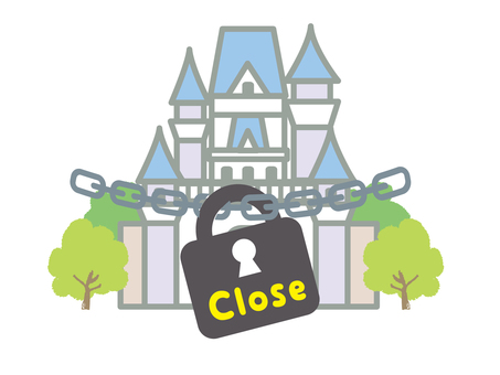 Temporarily closed theme parks