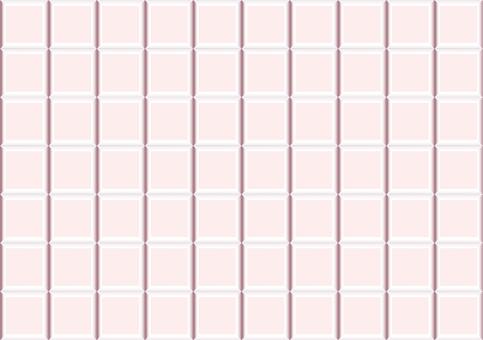 瓷磚 - 粉紅色