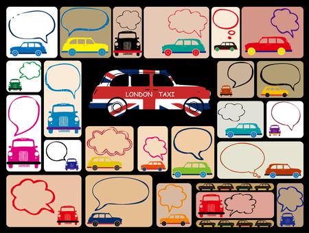 Card design: London taxi