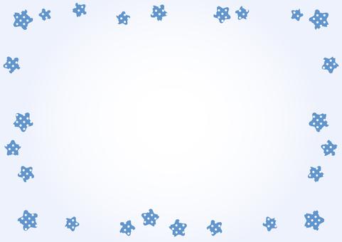 Star frame (blue)
