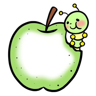 Pear frame memo pad wormholes insect pear fun