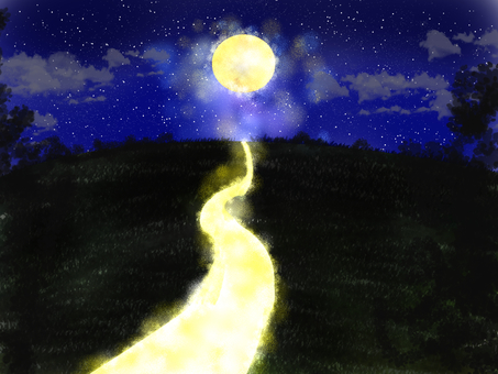 The light path of the moon