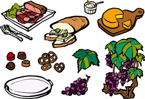 Wine snack set