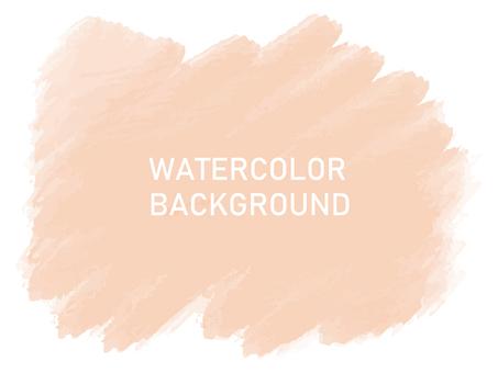 Watercolor background orange