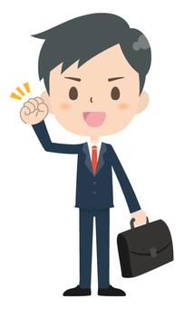 Businessman * Working hard 01