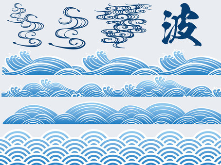Pop Japanese pattern wave pattern Summary