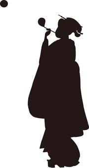 Ukiyo-e silhouette 58