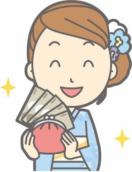 Yukata female a - wealthy - bust