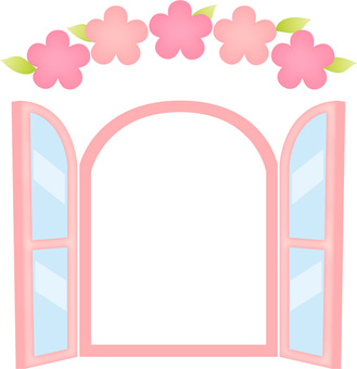 Spring window frame