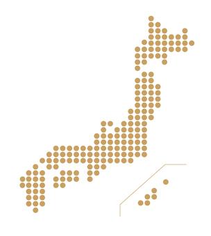 Japan map dot