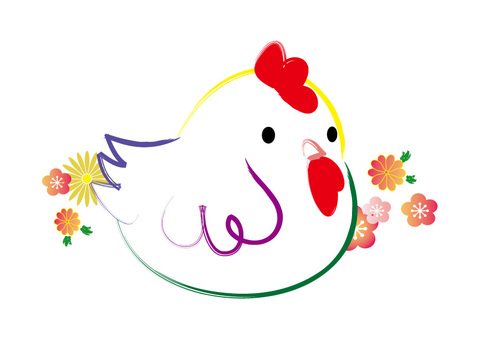 Colorful rooster 02