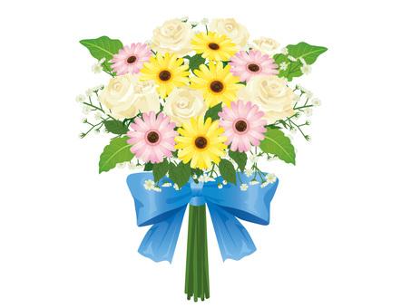 White rose and garbera bouquet arrangements 05